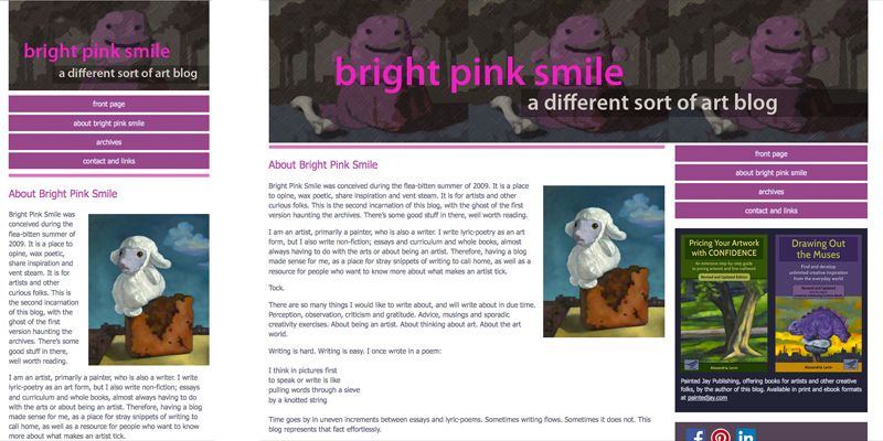 The Bright Pink Smile home page image