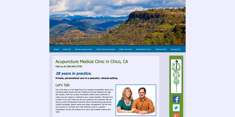 The Acupuncture Center of Chico home page image