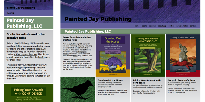 The Painted Jay LLC home page image