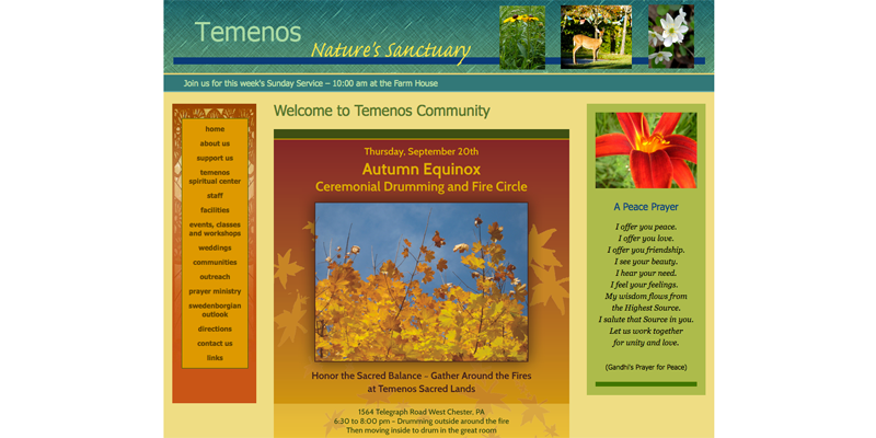 Temenos Community home page image